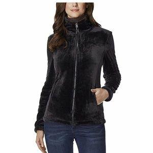 🎁NEW 32 Degrees Plush Faux Fur Jacket, Black, XL
